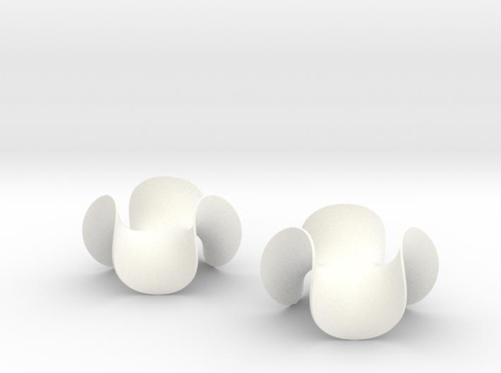 Enneper Earrings 3d printed