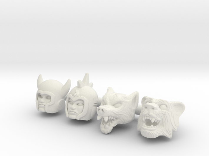 Galaxy Warrior Heads 4-Pack #2 - Multisize 3d printed