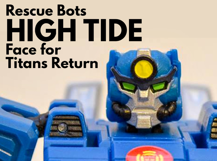High Tide, Rescue Bots Face (Titans Return) 3d printed Hand painted smooth fine detail