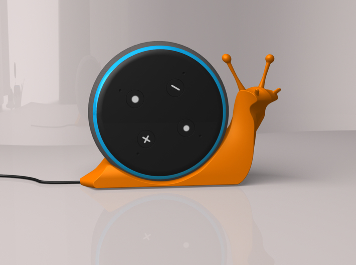 Alexa Snail (turned to the right) 3d printed