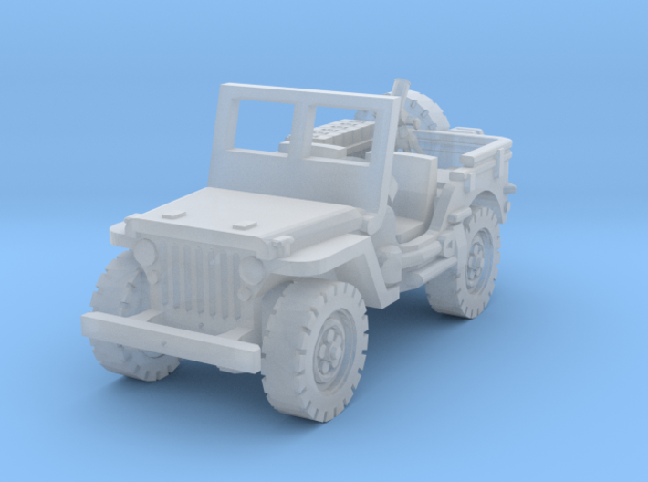 Jeep with Mortar scale 1/100 3d printed