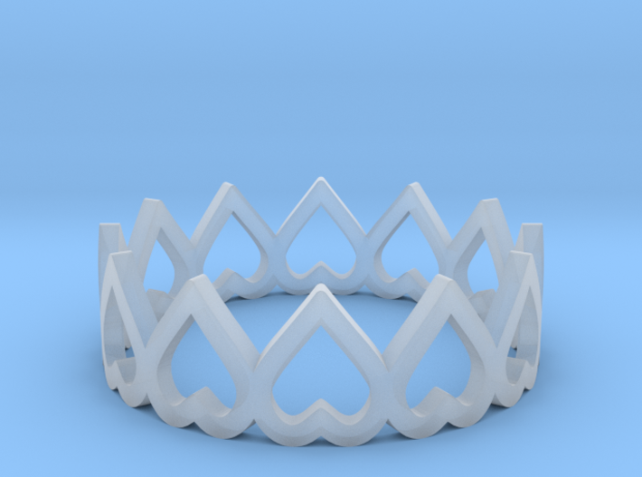hearth crown ring size 5.5 3d printed