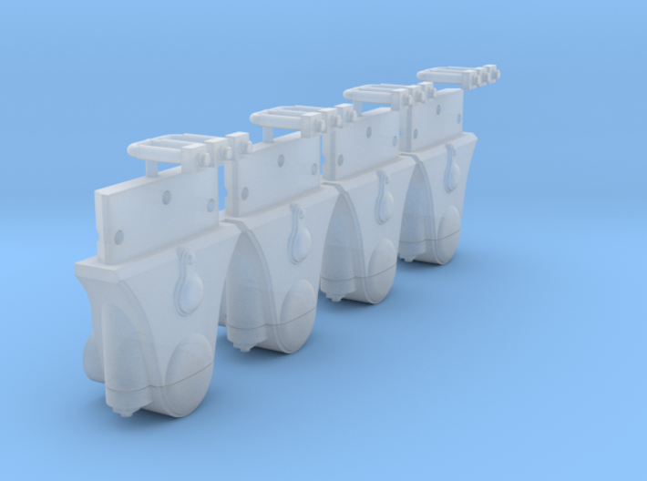 AB04 - Split FR Axlebox for Extended Axle Wagons 3d printed