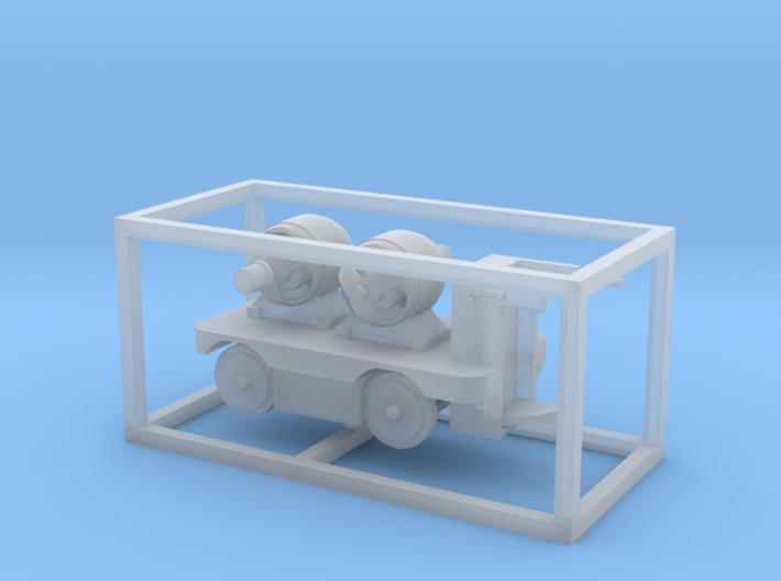 E-Karren Flachwagen 2 E-Motor - 1:120 TT 3d printed