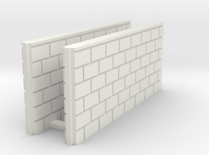 5' Block Wall - 2-Med Jointed Splices 3d printed Part # BWJ-022