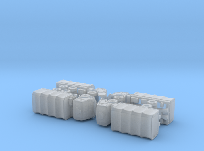 Steyr 680 4x4 and 6x6 Trucks 1/ 200 3d printed