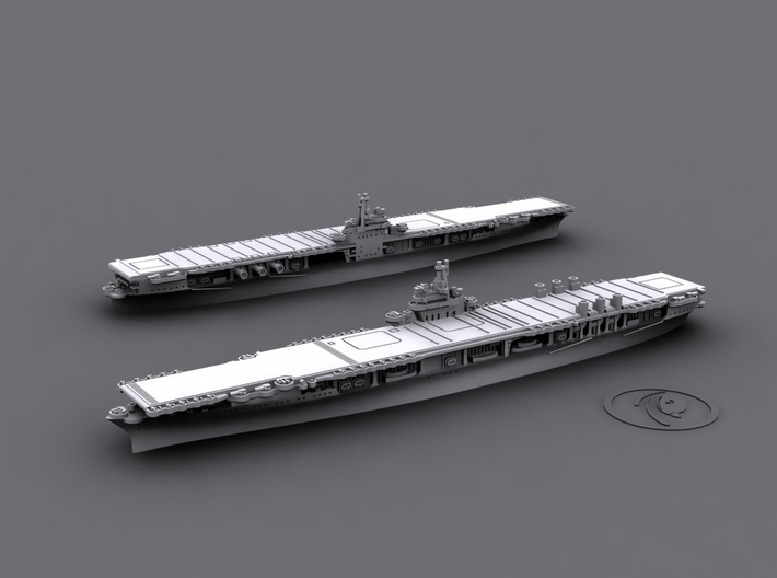 1/1800 US CV4 Ranger[1944] 3d printed Computer software render; only foreground version (with raised stacks) offered