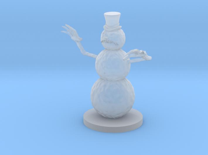 Evil Snowman 3d printed