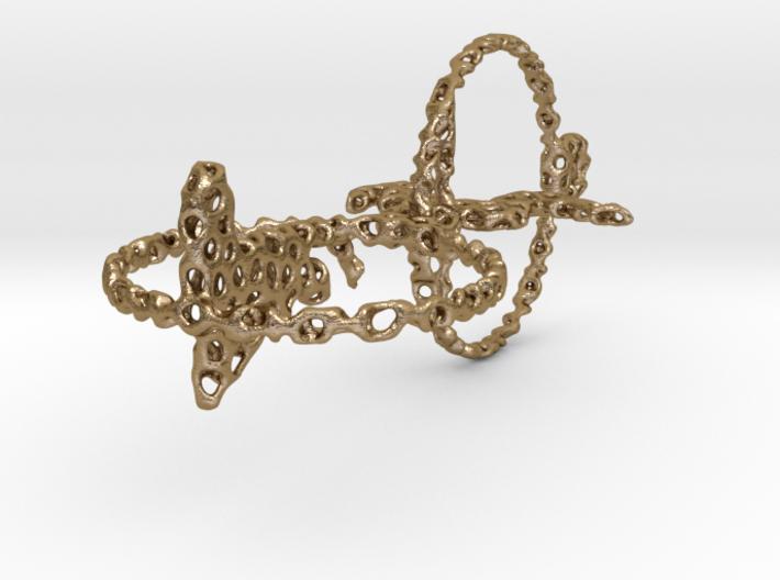 voronoi yoga double earring pendant 3d printed