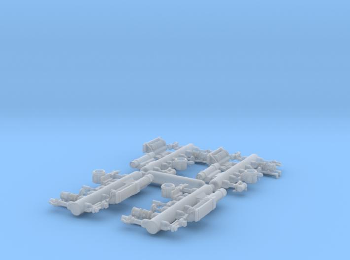 Plastic detail parts for RLW Nn3 Heisler kit 3d printed