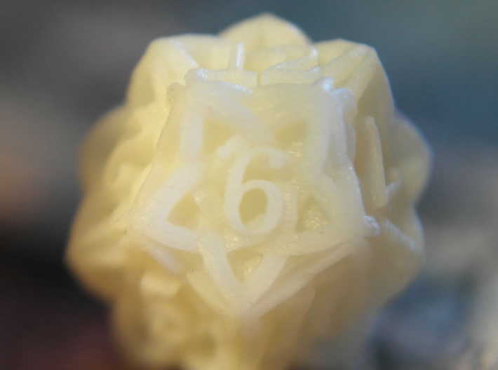 Celtic D12 - Solid Centre for Plastic 3d printed Printed in White Detail Plastic