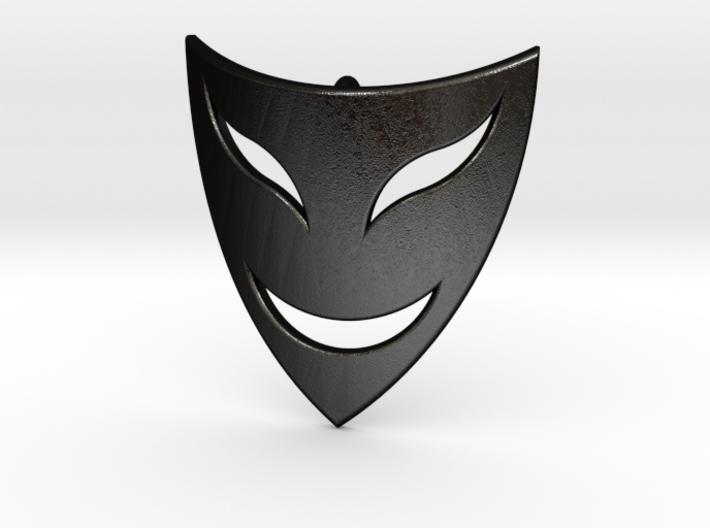 Drama Mask Pendant - Happy 3d printed