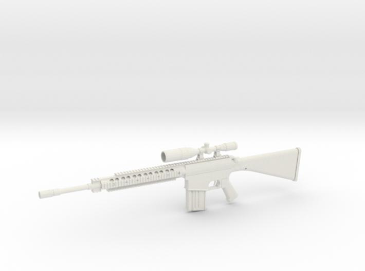 1:12 M110 Sniper Rifle 3d printed