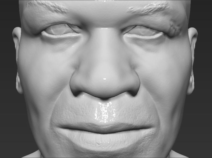 Mike Tyson bust 3d printed