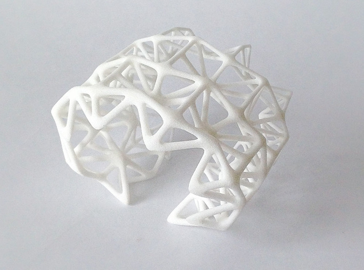 Origami_flame_Bangle 3d printed