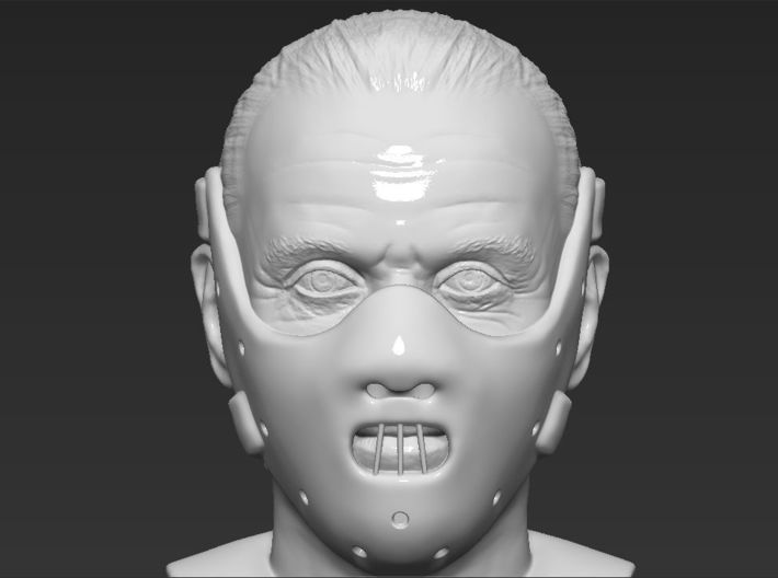 Hannibal Lecter bust 3d printed