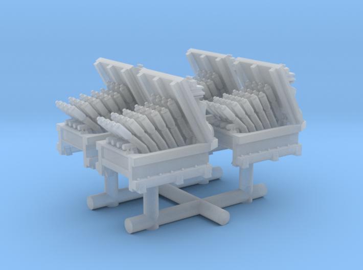 1/300 USN Hedgehog Thrower set x4 3d printed