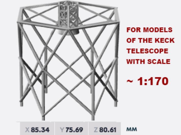 Keck Telescope Upper (1:170) 3d printed