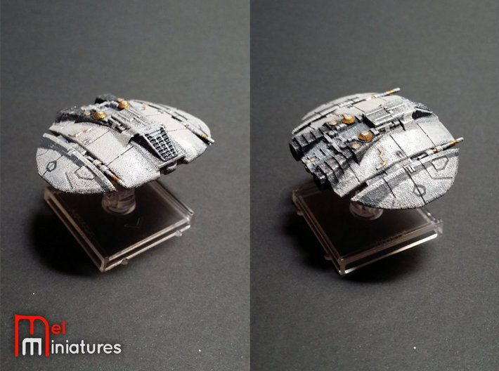 Old Cylon Raider 1/270 3d printed
