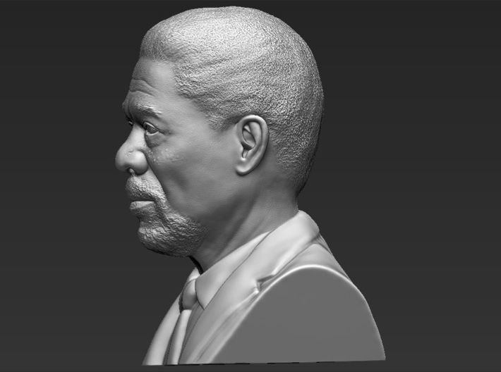 Morgan Freeman bust 3d printed