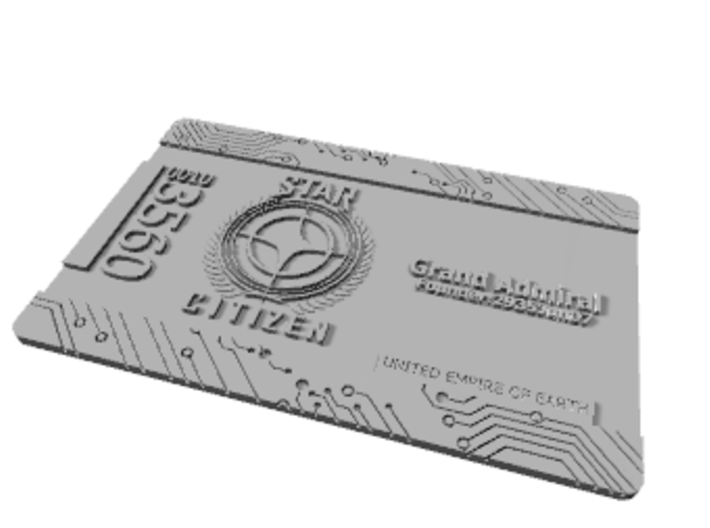 Star Citizen Grand Admiral Card - 2014 Version 3d printed