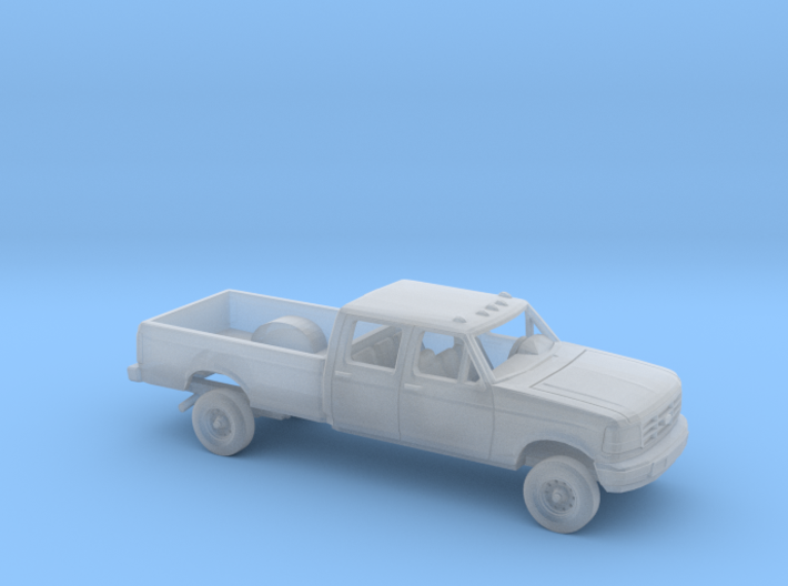 1/87 1992-96 Ford F Series Crew Cab Long Bed Kit 3d printed