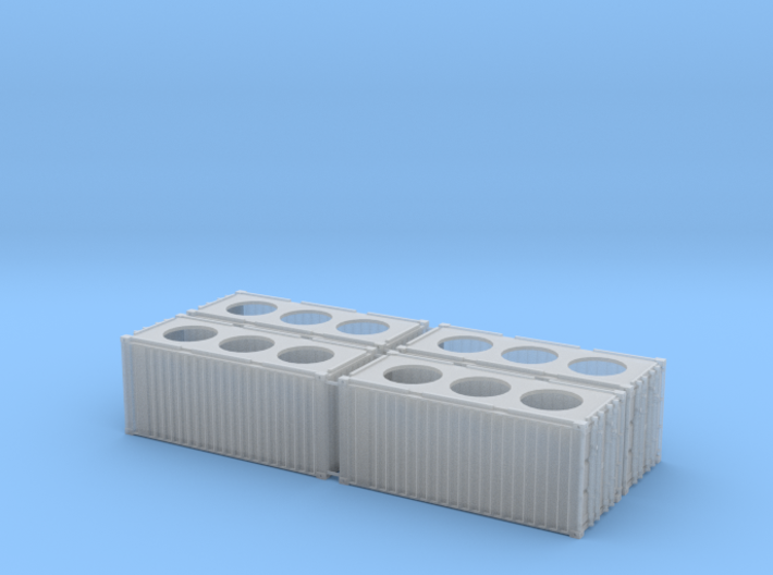 N scale container 20ft x4 3d printed