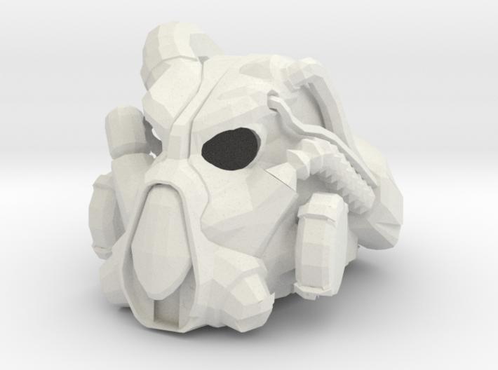 enclave power armor helmet keychain/finger pupet ( 3d printed