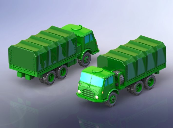 Steyr 680 6x6 Truck 1/120 TT 3d printed Set contains one model