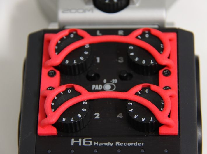 ZOOM H6 3 piece gain protector set - sprued 3d printed