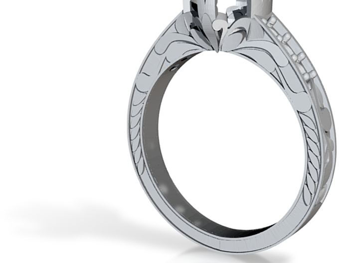 Cut Out Ring With Designs 3d printed