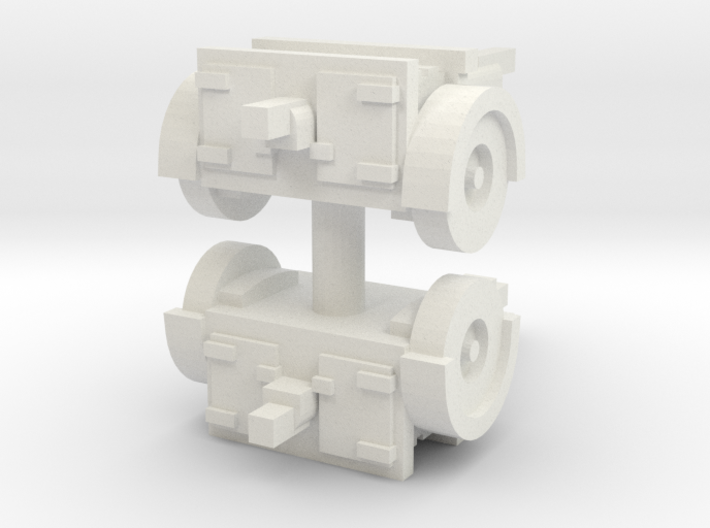 QF 25 Limber (2 pieces) 1/100 3d printed