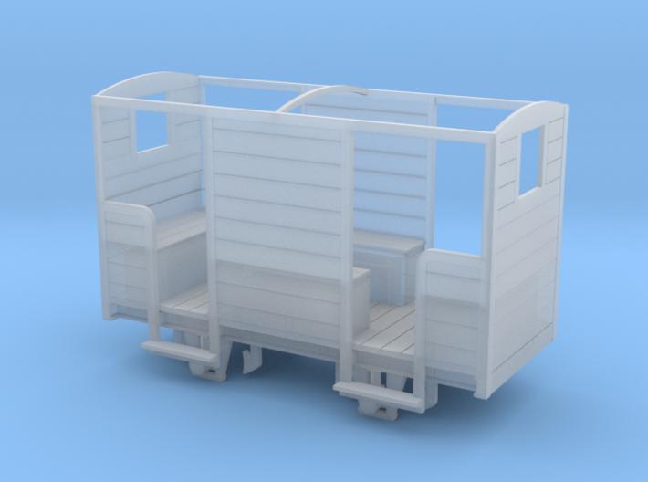 RNAD Brake Van - Open Variant - 7mm scale 3d printed