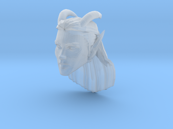 Elf Female Horned Head 2 3d printed Recommended