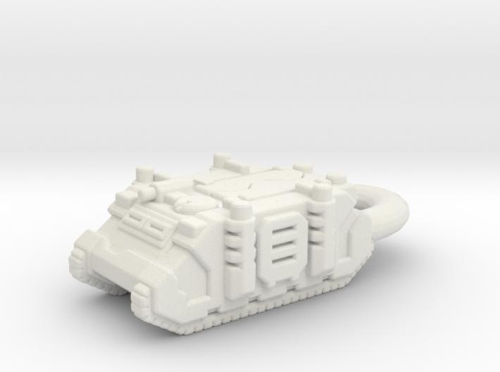 Rhino Tank Pendant necklace space marine 3d printed