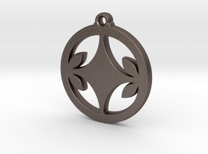 Diamond Leaf Pendant 3d printed