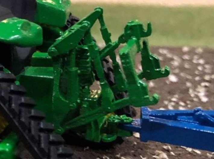 (3) GREEN LARGE MODERN 4WD HITCH FIXED 3 PNT 3d printed