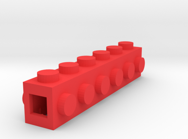 Custom LEGO-inspired brick 6x1 3d printed