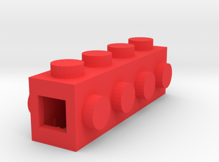 Custom LEGO-inspired brick 4x1 3d printed