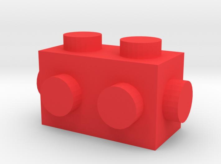 Custom LEGO-inspired brick 2x1 3d printed