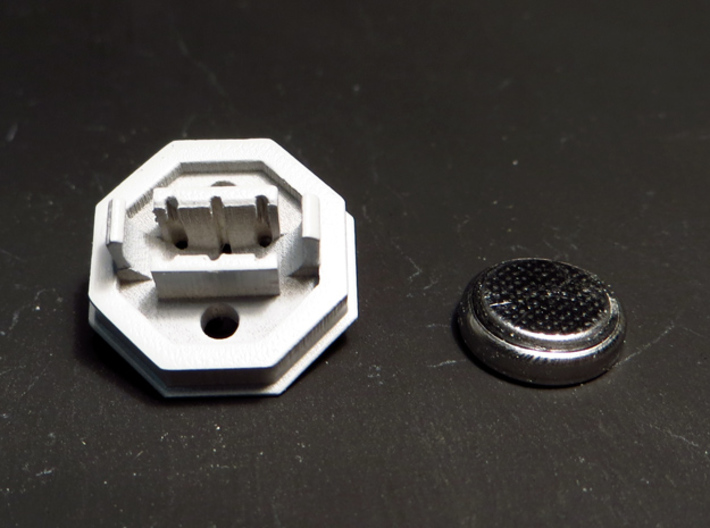 BYOS BATT HOLDER TWO SET 3d printed batery holder with the battery that fits in -not included-.
