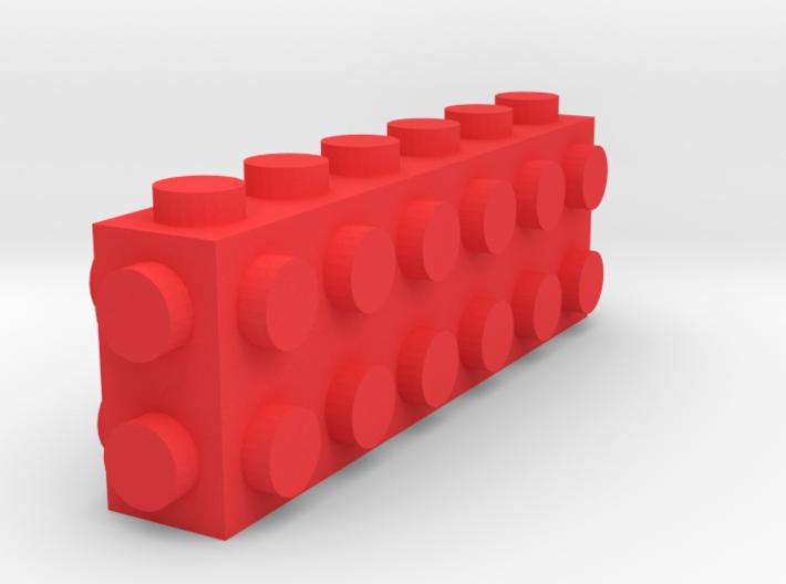Custom LEGO-inspired brick 6x1x2 3d printed