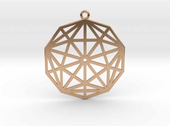 2D Rhombic Triacontahedron 3d printed