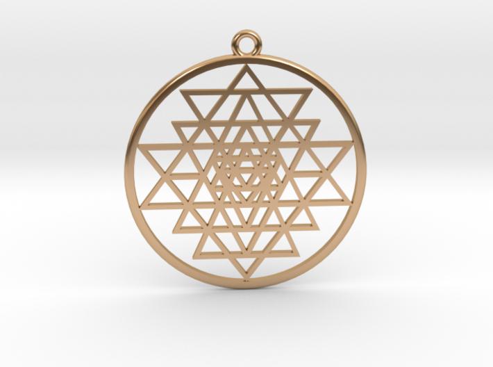Sri Yantra pendant optimal 3d printed