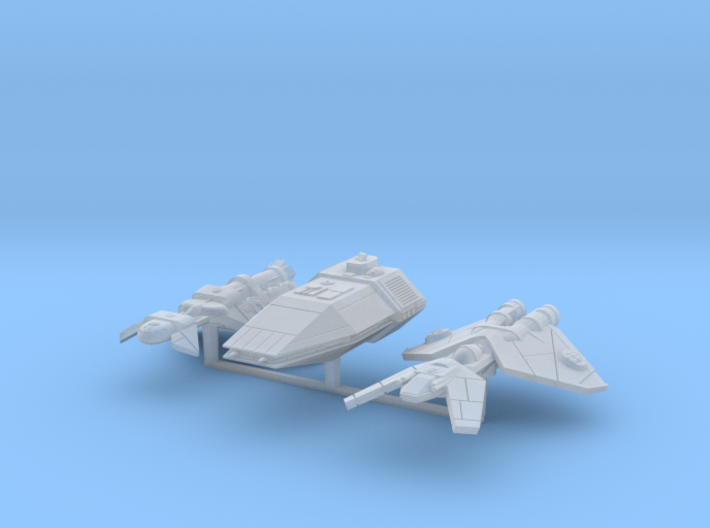 Patrol Ships 3 pack 3d printed