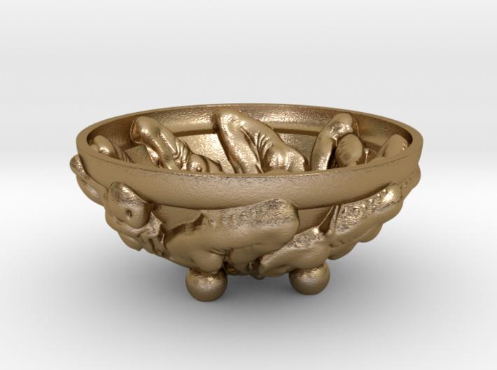 Elastic Life-cycle Bowl, 4 inch - Fine Art Sculpt. 3d printed
