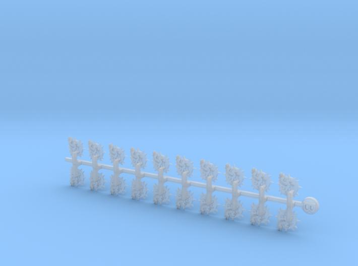 20x Pegasus - Bent Insignias (7mm) 3d printed