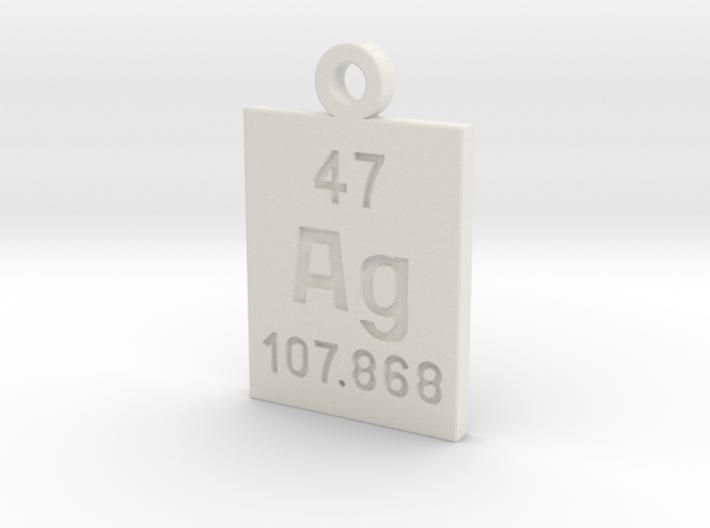 Ag Periodic Pendant 3d printed