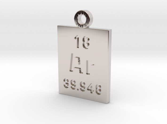 Ar Periodic Pendant 3d printed