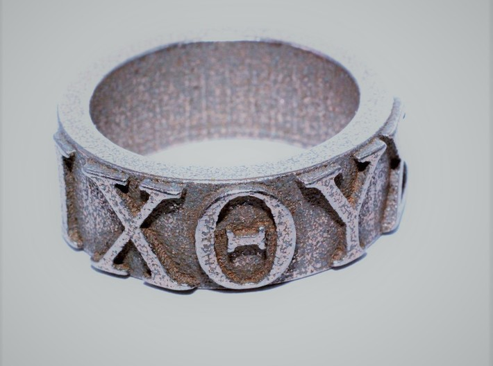 Christian IXTHUS Ring Size 9 1/2 3d printed